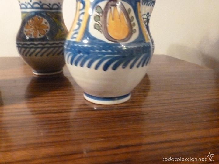 Antigüedades: juego de cinco jarras de manises (7) - Foto 2 - 55816781