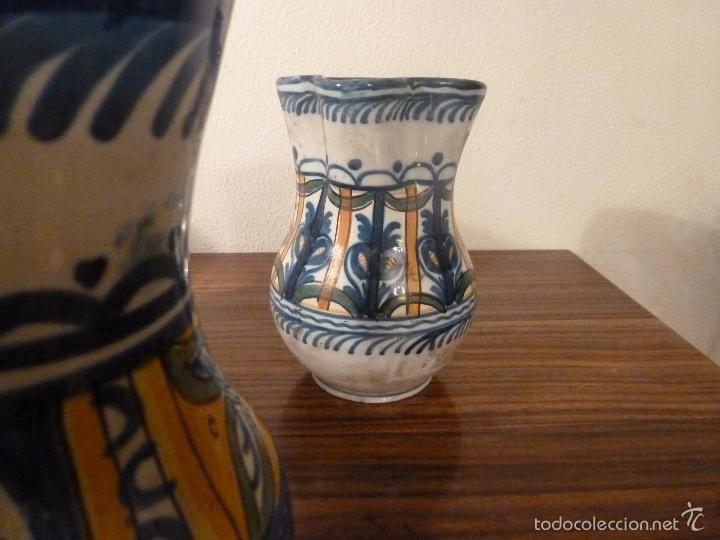 Antigüedades: juego de cinco jarras de manises (7) - Foto 3 - 55816781