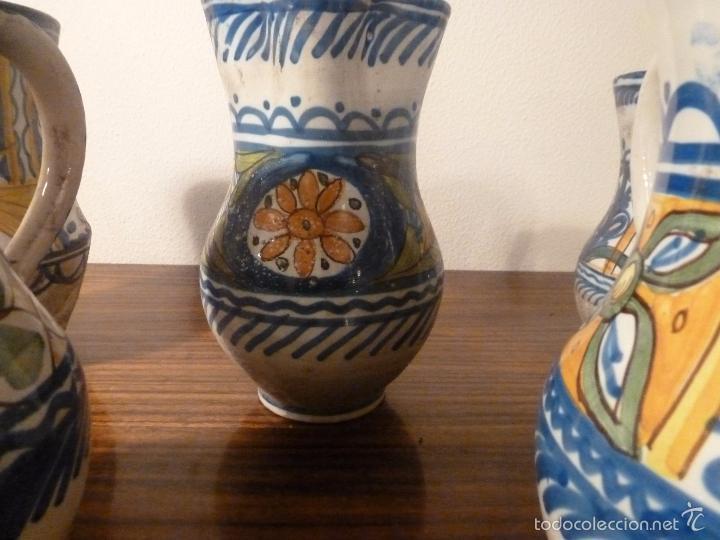 Antigüedades: juego de cinco jarras de manises (7) - Foto 5 - 55816781