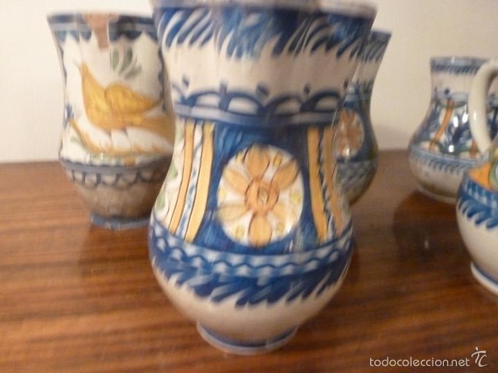 Antigüedades: juego de cinco jarras de manises (7) - Foto 7 - 55816781