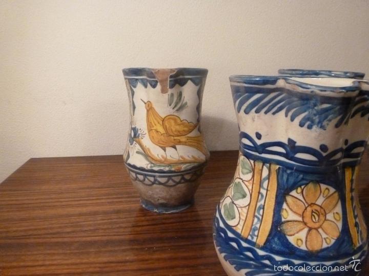 Antigüedades: juego de cinco jarras de manises (7) - Foto 10 - 55816781