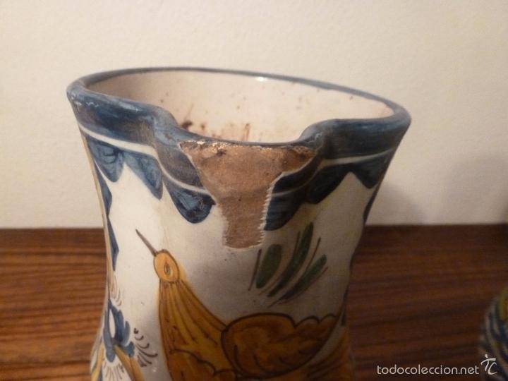 Antigüedades: juego de cinco jarras de manises (7) - Foto 12 - 55816781