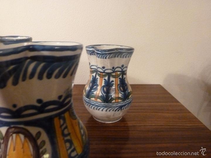 Antigüedades: juego de cinco jarras de manises (7) - Foto 15 - 55816781
