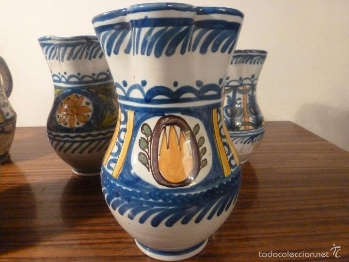 Antigüedades: juego de cinco jarras de manises (7) - Foto 16 - 55816781