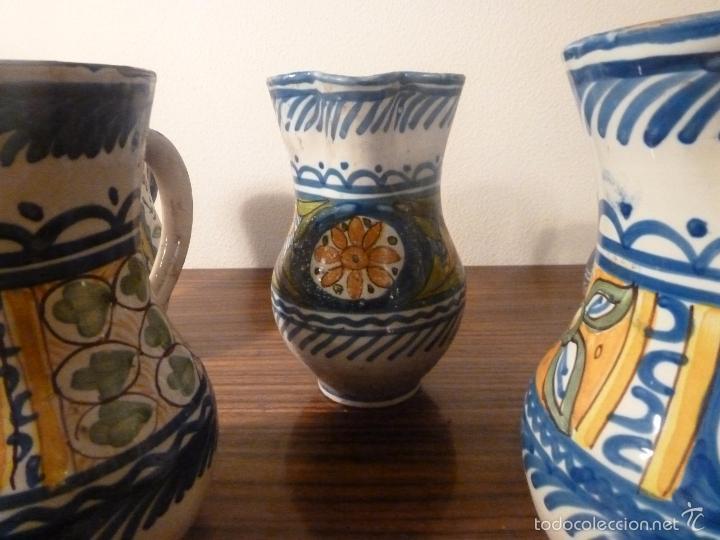 Antigüedades: juego de cinco jarras de manises (7) - Foto 17 - 55816781