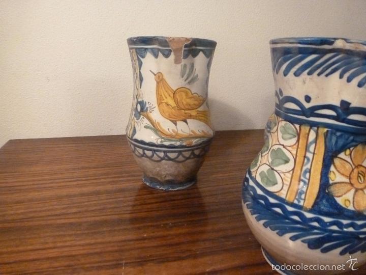 Antigüedades: juego de cinco jarras de manises (7) - Foto 18 - 55816781