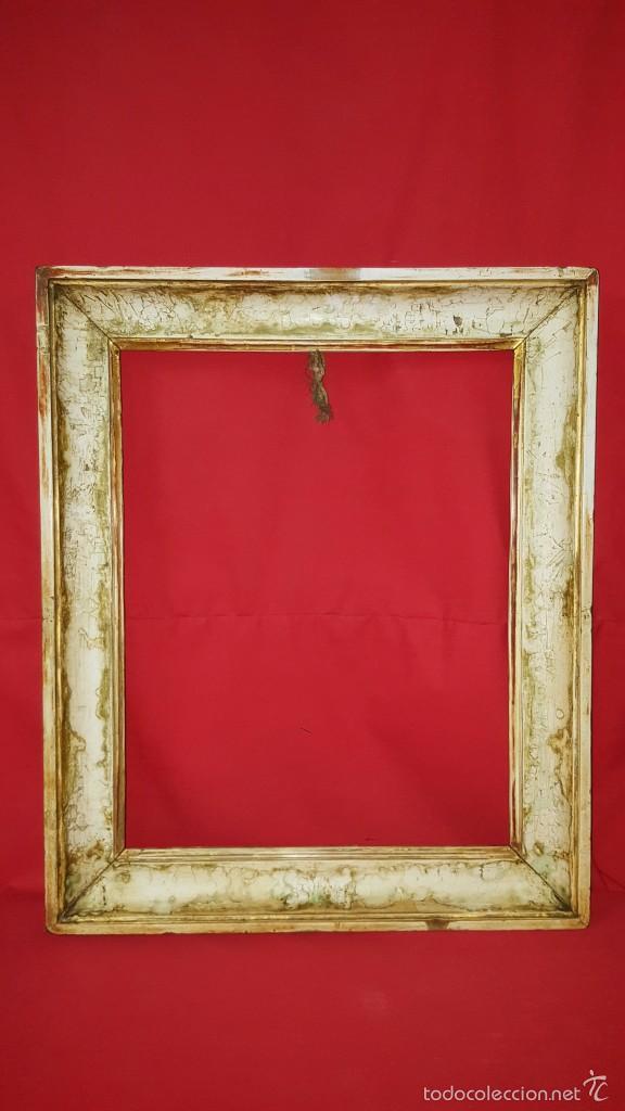bonito marco antiguo en blanco decapado. - Comprar Marcos Antiguos ...