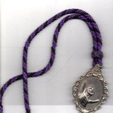 Antigüedades: SEMANA SANTA ALCALA DE GUADAIRA, MEDALLA CON CORDON CRISTO DEL PERDON Y NTRA.SRA.ANGUSTIAS. Lote 55833253