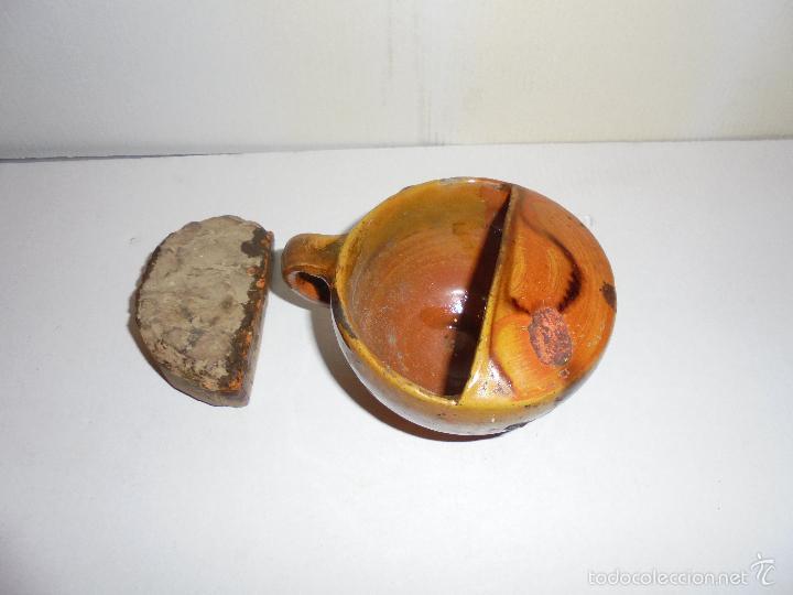 Antigüedades: ANTIGUO PISTERO DE CERAMICA POPULAR CATALANA ( LA BISBAL S. XIX ) VER FOTGR. FALTA DEL PICO . CON SU - Foto 2 - 55855659