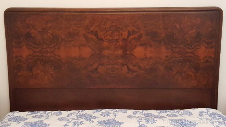 Antigüedades: Cabecero en madera de raiz para cama de matrimonio. - Foto 5 - 52364284