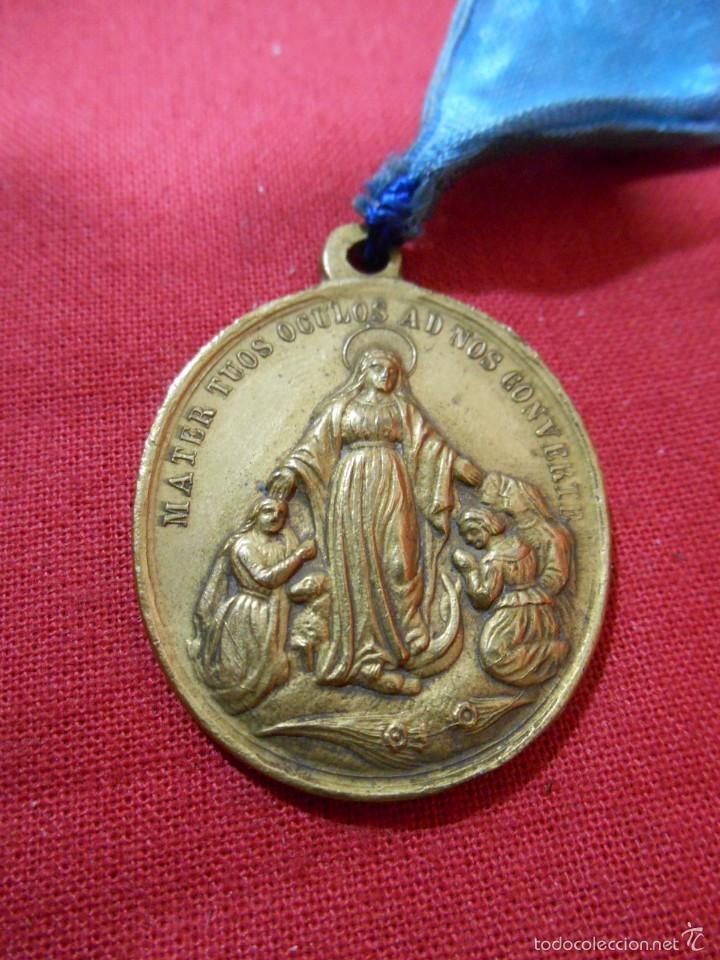 MEDALLA RELIGIOSA HIJAS DE LA INMACULADA CONCEPCION (Antigüedades - Religiosas - Medallas Antiguas)