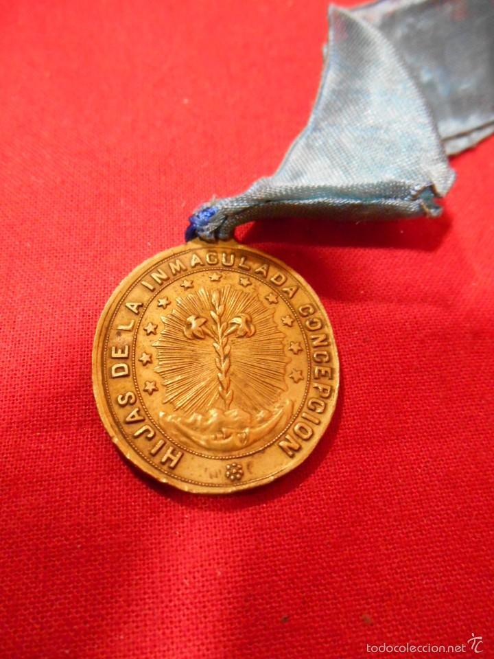 Antigüedades: MEDALLA RELIGIOSA HIJAS DE LA INMACULADA CONCEPCION - Foto 2 - 55861373