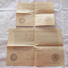 Antigüedades: 2 BULAS DE SANTA CRUZADA Y AYUNO 1949. Lote 55861432