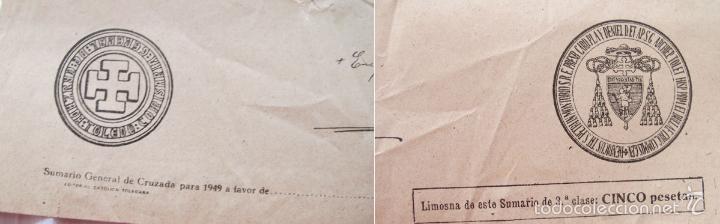 Antigüedades: 2 BULAS DE SANTA CRUZADA Y AYUNO 1949 - Foto 4 - 55861432