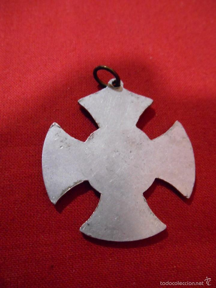 Antigüedades: MEDALLA RELIGIOSA EN ALUMINIO ADVENIAT. REGNUM. TUUM - Foto 2 - 55861472