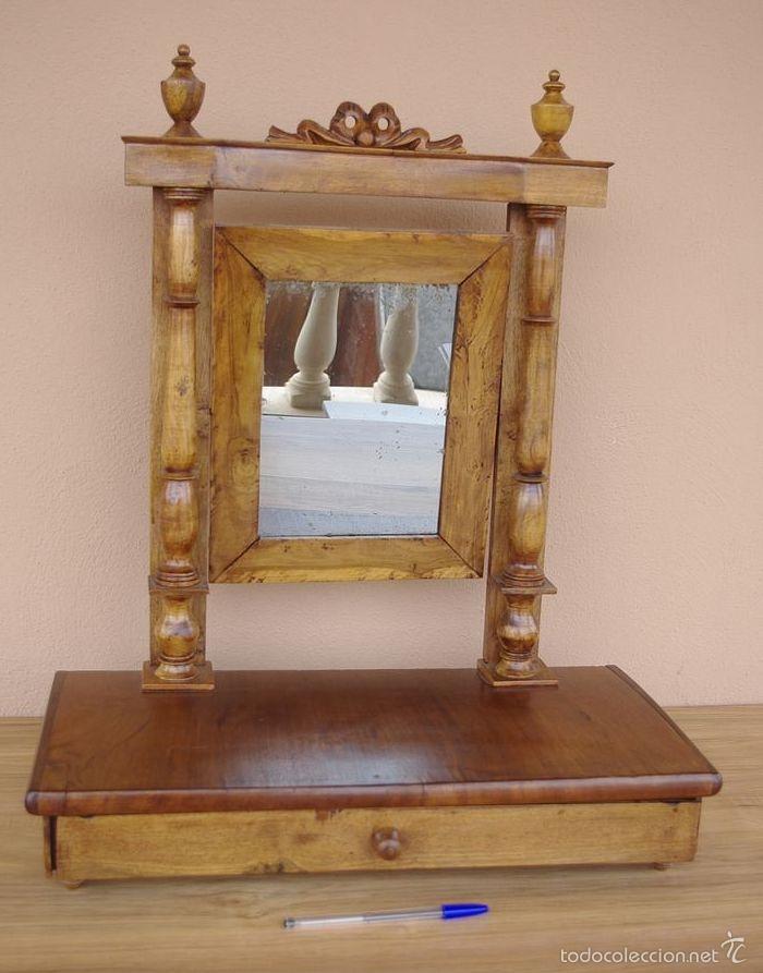Mueble tocador isabelino peque o transportable comprar - Comprar muebles antiguos ...