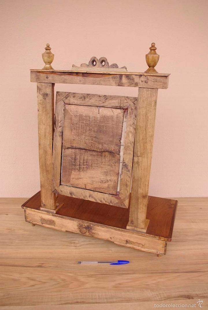 Antigüedades: Mueble tocador isabelino pequeño transportable. - Foto 4 - 55861658