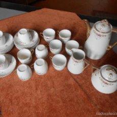 Antigüedades: JUEGO DE CAFÉ 12 SERVICIOS -SIGLO XIX. Lote 55863964