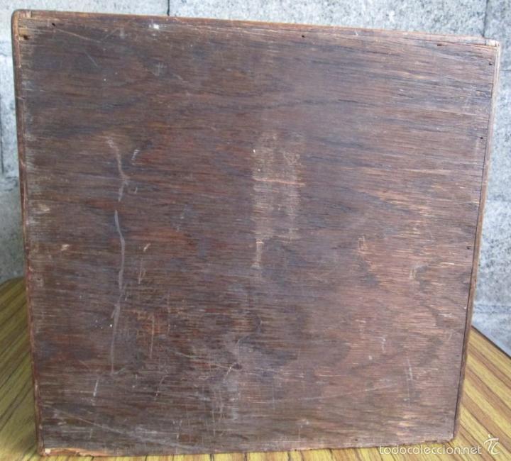 Antigüedades: FICHERO DE CAJONES de roble con tiradores de metal latón - Foto 12 - 21536048
