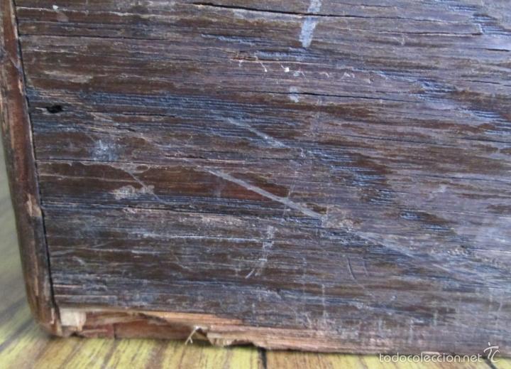 Antigüedades: FICHERO DE CAJONES de roble con tiradores de metal latón - Foto 13 - 21536048