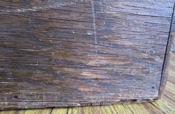 Antigüedades: FICHERO DE CAJONES de roble con tiradores de metal latón - Foto 14 - 21536048