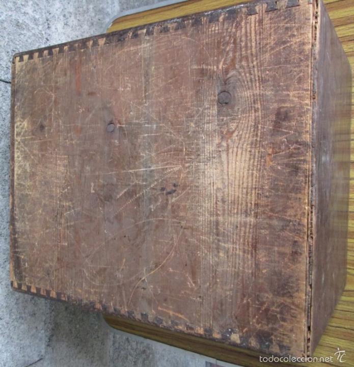 Antigüedades: FICHERO DE CAJONES de roble con tiradores de metal latón - Foto 15 - 21536048