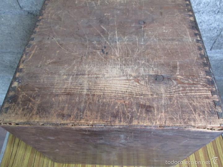 Antigüedades: FICHERO DE CAJONES de roble con tiradores de metal latón - Foto 16 - 21536048