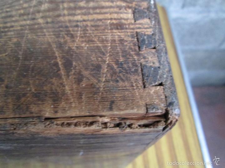 Antigüedades: FICHERO DE CAJONES de roble con tiradores de metal latón - Foto 17 - 21536048