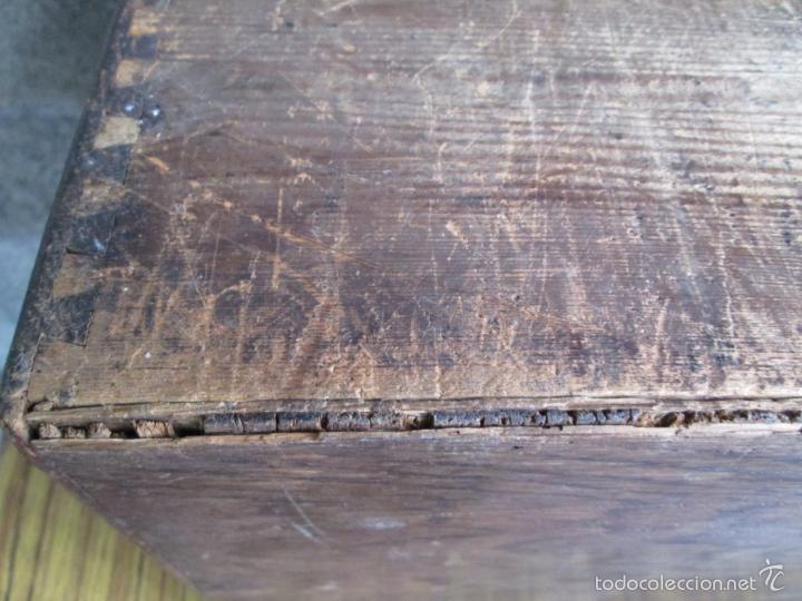 Antigüedades: FICHERO DE CAJONES de roble con tiradores de metal latón - Foto 18 - 21536048