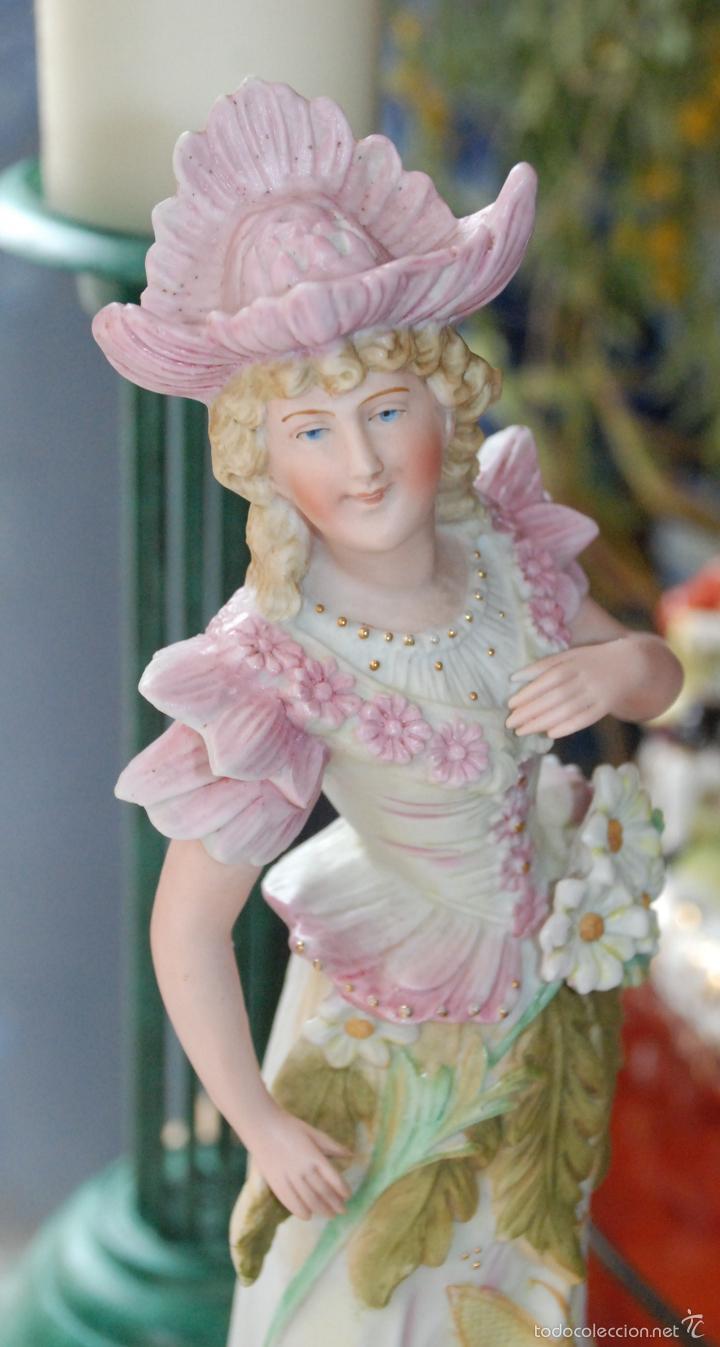 Antigüedades: PRECIOSA PORCELANA BISCUIT COLOREADA - Foto 3 - 55869903