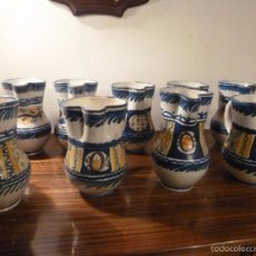 Antigüedades: NUEVE JARRAS DE MANISES. Lote 55870307