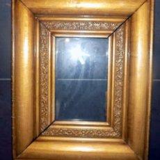 Antigüedades: MUY ANTIGUO MARCO DE MADERA MACIZA, BUEN ESTADO, VER FOTOS, 35 X 18. Lote 55870526