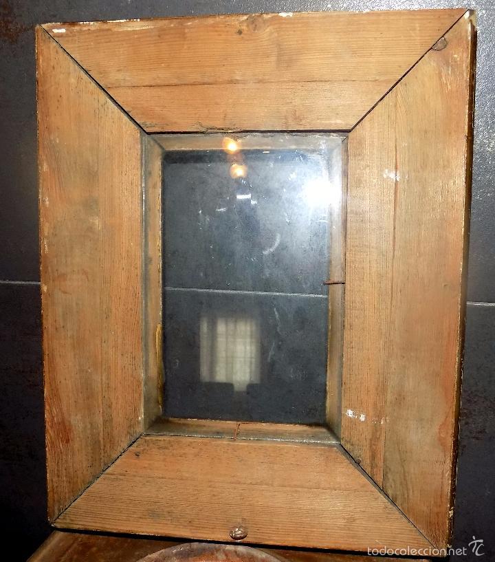 Antigüedades: muy antiguo marco de madera maciza, buen estado, ver fotos, 35 x 18 - Foto 3 - 55870526