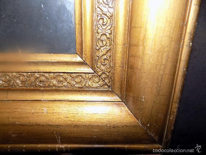 Antigüedades: muy antiguo marco de madera maciza, buen estado, ver fotos, 35 x 18 - Foto 4 - 55870526