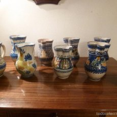 Antigüedades: NUEVE JARRAS DE MANISES. Lote 55871185