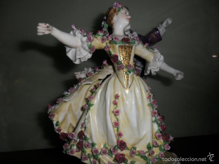 Antigüedades: PRECIOSA FIGURA DE BAILARINES CON SELLO - Foto 6 - 55879256
