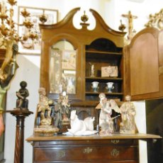 Antigüedades: PIEZA DE MUSEO GRAN BURO DESPACHO ESCRITORIO LIBRERIA INGLES GEORGE II, CAOBA Y CHICARANDA. Lote 55884601