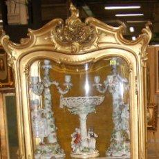 Antigüedades: VITRINA DE MUSEO LOUIS XV ORO FINO Y OLEOS ANGELES ANGELOTES. Lote 55885077