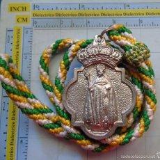 Antigüedades: MEDALLA MEDALLÓN RELIGIOSO. HERMANDAD SACRAMENTAL SAN BENITO ABAD, CAMPILLOS, MÁLAGA. Lote 55890487