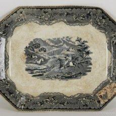 Antigüedades: BANDEJA EN PORCELANA ESMALTADA. FABRICA DE CARTAGENA. SIGLO XIX. . Lote 55900715