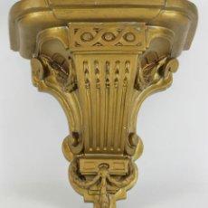 Antigüedades: MENSULA EN ESTUCO POLICROMADO EN DORADO. SIGLO XX. . Lote 118852408