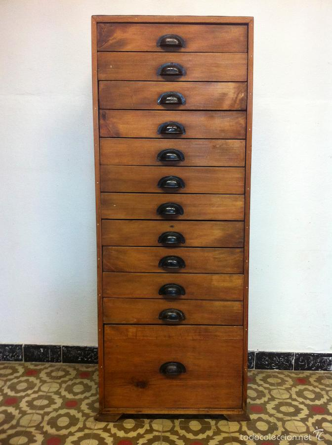 Antiguo mueble archivador cajonera comprar muebles - Cajones de madera antiguos ...