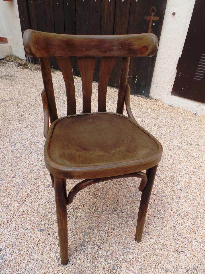 Antigua silla en madera con respaldo arqueado comprar for Oferta sillas madera