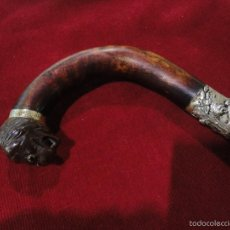 Antigüedades: BASTON CABEZA DE PERRO. Lote 55939979