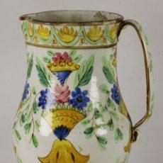 Antigüedades: GRAN JARRA EN CERAMICA VALENCIANA ESMALTADA. MANISES. SIGLO XIX. . Lote 55952245