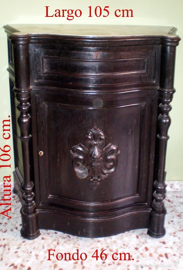 Antigüedades: SEÑORIAL RECIBIDOR ANTIGUO ENTREDOS DE MADERA SIN ESPEJO. - Foto 3 - 55992328