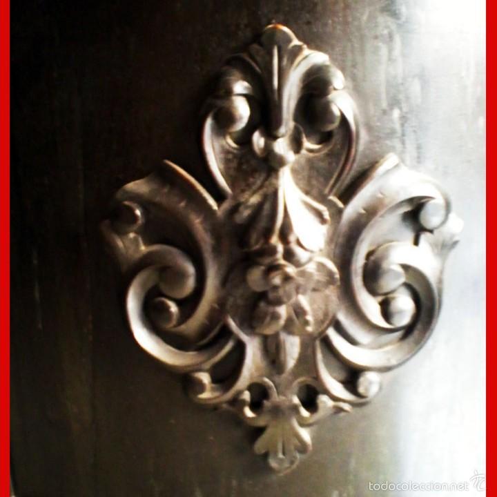 Antigüedades: SEÑORIAL RECIBIDOR ANTIGUO ENTREDOS DE MADERA SIN ESPEJO. - Foto 8 - 55992328
