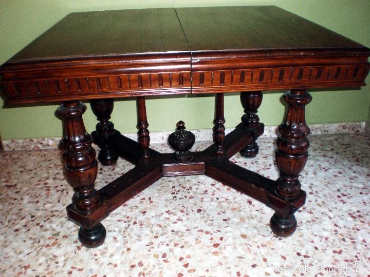 preciosa mesa comedor tablero lateral tallado y - Kaufen Antike ...