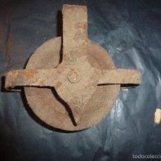 Antiguidades: POLEA DE HIERRO. Lote 55993678