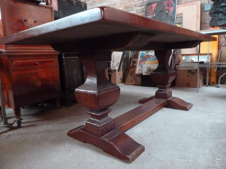 Mesa grande de comedor de madera maciza 180 x vendido - Mesas grandes de comedor ...